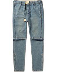 Sacai - Tapered Zip-detailed Denim Jeans - Lyst