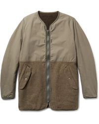 Visvim - Longlinger Reversible Cotton-canvas And Wool-blend Jacket - Lyst
