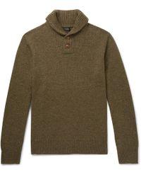 J.Crew - Shawl-collar Merino Wool-blend Jumper - Lyst