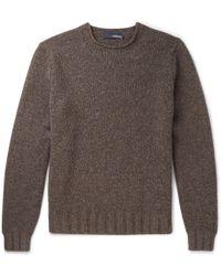 Lardini - Mélange Yak And Wool-blend Sweater - Lyst