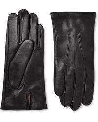 Dents - Black Cashmere-lined Leather Gloves - Lyst