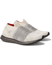 ac5bb4ad80a Lyst - adidas Originals F 22 Suede-trimmed Primeknit Sneakers in ...