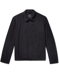 Theory - Pinstriped Wool-blend Jacket - Lyst