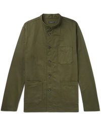 Engineered Garments - Dayton Mandarin-collar Cotton-twill Shirt - Lyst