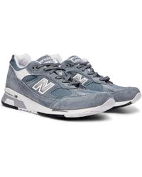 New Balance - 9915v1 Suede And Mesh Trainers - Lyst