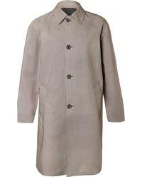 Prada - Puppytooth Coated-cotton Coat - Lyst