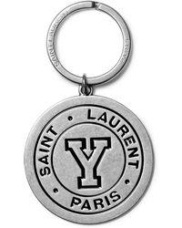 Saint Laurent | Enamelled Silver-tone Key Fob | Lyst