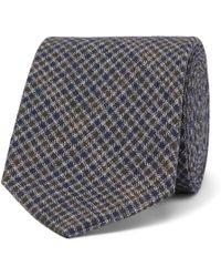 Oliver Spencer - 8cm Checked Cotton Tie - Lyst