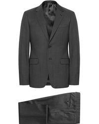 Prada - Charcoal Slim-fit Pin-dot Virgin Wool Suit - Lyst