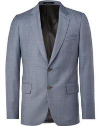Paul Smith - Blue Soho Slim-fit Wool-sharkskin Suit Jacket - Lyst