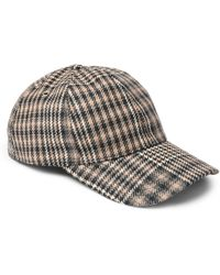 Embroidered Checked Wool-twill Baseball Cap Gucci QYIrtSlAh