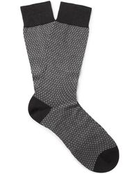 Pantherella - Dalby Patterned Cotton-blend Socks - Lyst