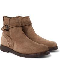 Shearling-lined Suede Jodhpur Boots Bottega Veneta mtkXOxsn