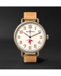 Bell & Ross - Ww1-92 45mm Steel And Leather Watch - Lyst