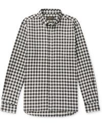 Beams Plus - Gingham Cotton-flannel Shirt - Lyst