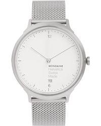 Mondaine - Helvetica No1 Light Stainless Steel Watch - Lyst
