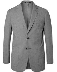 Dunhill - Black Checked Stretch-cotton Suit Jacket - Lyst