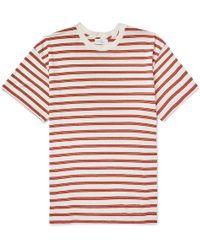 John Elliott - Striped Bouclé Cotton-blend T-shirt - Lyst