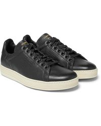Tom Ford - Warwick Perforated Full-grain Leather Sneakers - Lyst