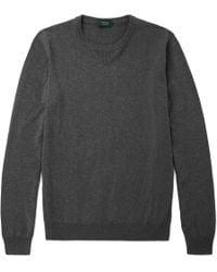 Incotex | Mélange Cotton Sweater | Lyst