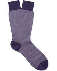 Pantherella - Seymour Striped Cotton-blend Socks - Lyst