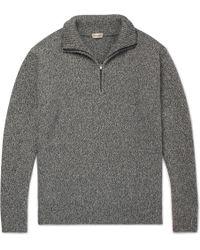 Camoshita - Mélange Wool-blend Half-zip Sweater - Lyst
