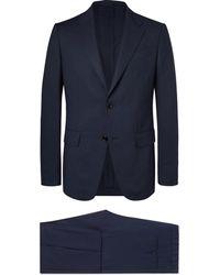 Ermenegildo Zegna - Navy Packaway Slim-fit Wool Suit - Lyst