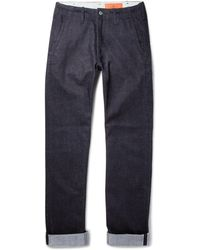 Jean Shop - Leon Slim-fit Selvedge Stretch-denim Jeans - Lyst