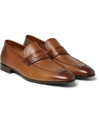 Berluti - Polished-leather Loafers - Lyst