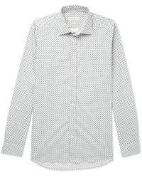 Etro - Slim-fit Paisley-print Stretch-cotton Poplin Shirt - Lyst
