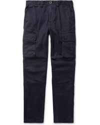 Incotex - Slim-fit Cotton-twill Cargo Trousers - Lyst