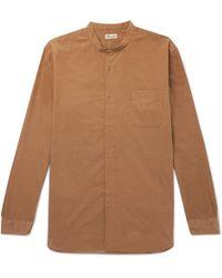 Camoshita - Grandad-collar Cotton-corduroy Shirt - Lyst