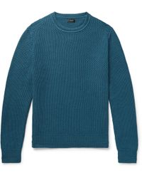 J.Crew - Honeycomb-knit Cotton Sweater - Lyst
