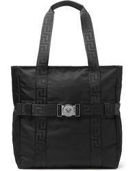 Versace - Logo-detailed Nylon Tote Bag - Lyst
