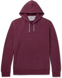 Brunello Cucinelli - Fleece-back Stretch-cotton Jersey Hoodie - Lyst
