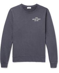 FRAME - Printed Loopback Cotton-jersey Sweatshirt - Lyst