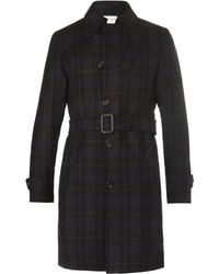 Oliver Spencer - Southgate Checked Wool-twill Trench Coat - Lyst