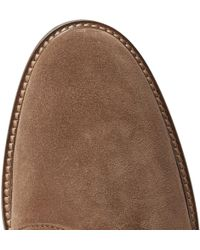 Tod's - Suede Derby Shoes - Lyst