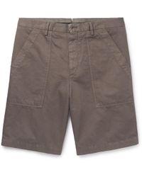 Ermenegildo Zegna - Garment-dyed Cotton And Linen-blend Shorts - Lyst