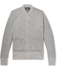 RRL - Mélange Loopback Cotton And Wool-blend Cardigan - Lyst