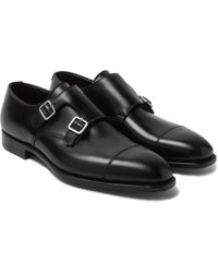 George Cleverley - Thomas Leather Monk-strap Shoes - Lyst