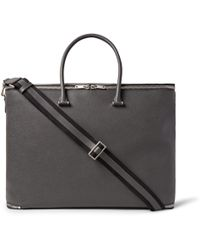Valextra - Versatile Pebble-grain Leather Holdall - Lyst