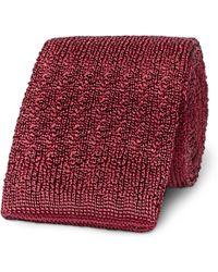 Brioni - 6cm Knitted Silk Tie - Lyst
