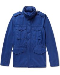 Aspesi - Brushed Cotton-twill Field Jacket - Lyst