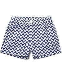Frescobol Carioca - Copacabana Slim-fit Short-length Printed Swim Shorts - Lyst