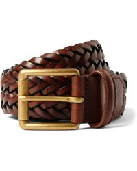 Andersons - 3.5cm Brown Woven Leather Belt - Lyst