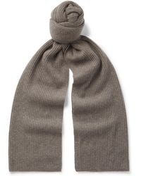 Theory - Ribbed Cashmere Scarf - Lyst