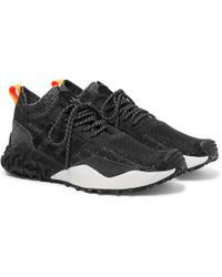 more photos d8919 62a33 adidas Originals - Atric F2 Tr Suede-trimmed Primeknit Sneakers - Lyst