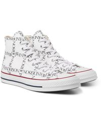 Converse - + Jw Anderson 1970s Chuck Taylor All Star Logo-printed Canvas High-top Trainers - Lyst