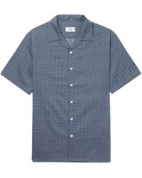 Dunhill - Camp-collar Printed Cotton Shirt - Lyst